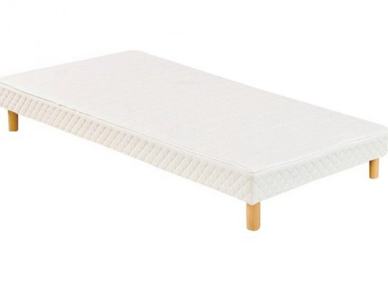 Acheter Sommier 90x200 tapissier volige 12 cm + 4 pieds pas cher !