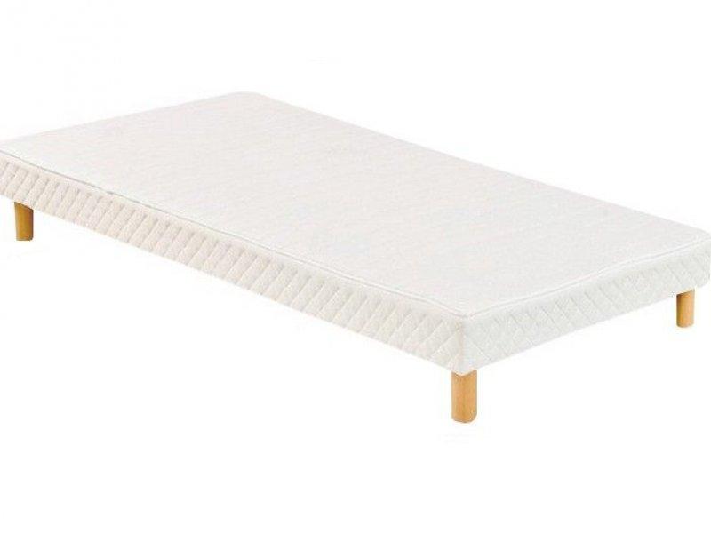 Acheter Sommier 90x190 tapissier volige 12 cm + 4 pieds pas cher !