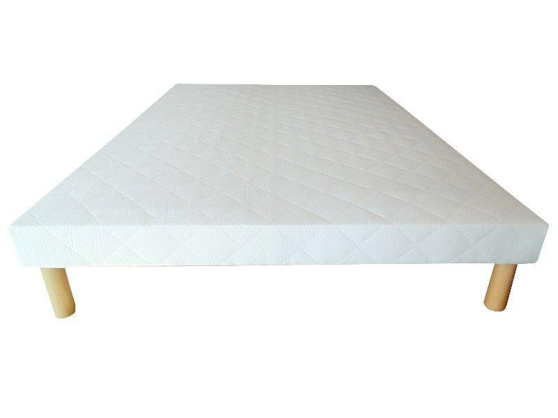 Acheter Sommier 130x190 tapissier 26 lattes 12 cm + 4 pieds pas cher !