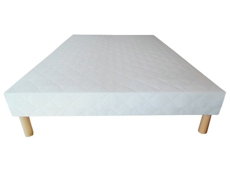 Acheter Sommier 140x190 tapissier 26 lattes 20 cm + 4 pieds pas cher !