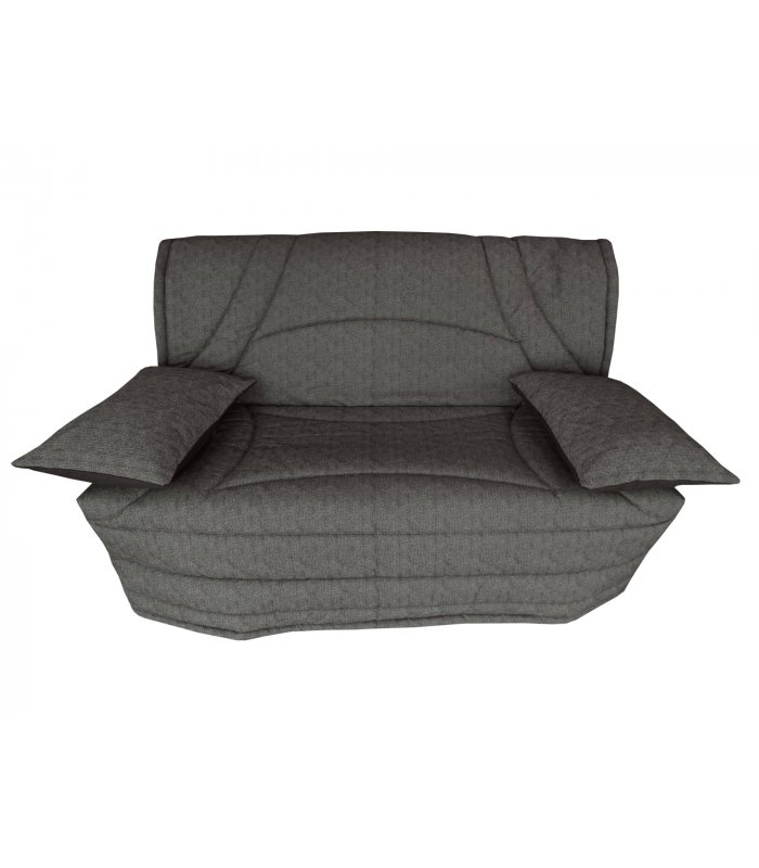 housse 160x200 matelass e pour banquette bz terrenas gris. Black Bedroom Furniture Sets. Home Design Ideas